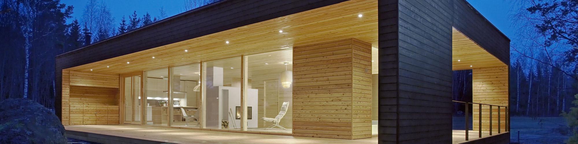 Maison en bois massif empilé